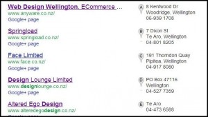 pin listings in google