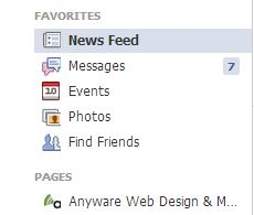 Facebook Homepage Sidebar