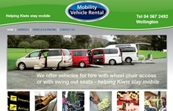 mobility vehicle rental website