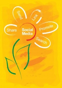 social media flower